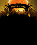 Halloween background with hand Stock Photography