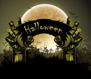 Halloween background with hand Stock Photos
