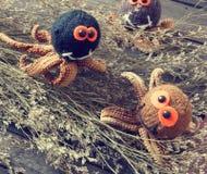 Halloween background, handmade, pumpkin, spider, october Royalty Free Stock Image
