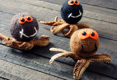 Halloween background, handmade, pumpkin, spider, october Royalty Free Stock Photo