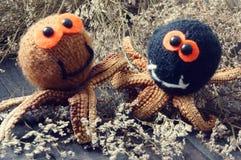 Halloween background, handmade, pumpkin, spider, october Stock Photo