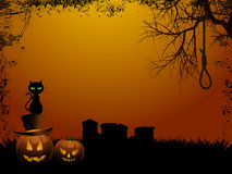 Halloween background and hangmans nooseai Stock Photos