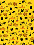 Halloween background. Happy halloween background in cliping mask Royalty Free Stock Photos