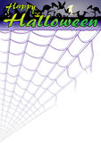 Halloween background. Happy Halloween invitation background with spider web Stock Photography