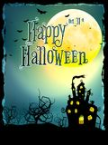 Halloween Background with haunted house. EPS 10 Stock Photography