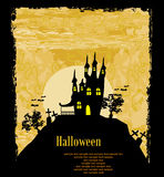 Halloween background with haunted house Royalty Free Stock Photo