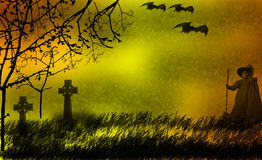 Halloween background. For holiday and invitation Royalty Free Stock Photo