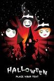 Halloween background, illustration Stock Images