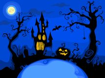 Halloween background. Illustration with a halloween background Royalty Free Stock Photography