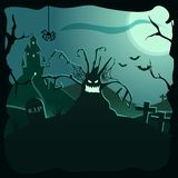 Halloween background illustration. Can be used with your own texHalloween background illustration. Can be used with your own text. Halloween background vector illustration