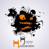 Halloween Background. Illustration of Halloween Background with scary face Stock Images