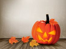Halloween background with a Jack 'O Lantern. Stock Photography