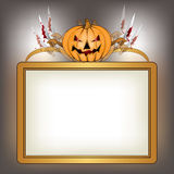 Halloween background with killer pumpkin Stock Image