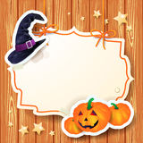 Halloween background with label Stock Photography