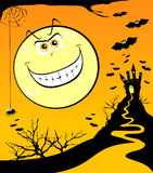 Halloween background with moon Royalty Free Stock Photography