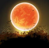 Halloween background with moon Stock Photos