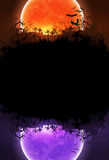 Halloween background with moon Royalty Free Stock Images