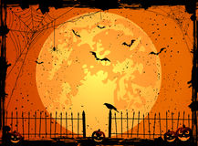 Halloween background with Moon Stock Image