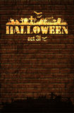 Halloween background with moon Stock Images