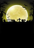Halloween background with moon Royalty Free Stock Image