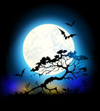 Halloween background with Moon Royalty Free Stock Photo