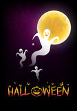 Halloween background with the moonlight. Illustration of halloween background with the moonlight Stock Illustration