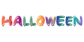Halloween background with multicolored balloons. Royalty Free Stock Images