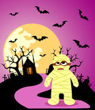 Halloween background with Mummy Stock Photos