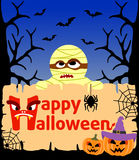 Halloween background with Mummy vector Stock Photos