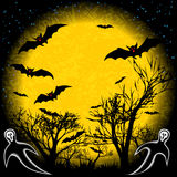 Halloween background. Halloween night bats background vector illustration royalty free illustration
