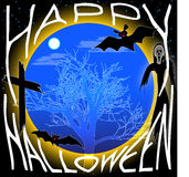 Halloween background. Halloween night bats background vector illustration stock illustration
