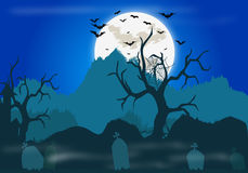 Halloween Background. Halloween night themed background illustration Royalty Free Stock Photo