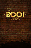 Halloween background with old brick wall Royalty Free Stock Image