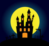 Halloween background with old castle Royalty Free Stock Photography