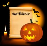 Halloween background with old paper Royalty Free Stock Photo