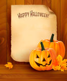 Halloween background with old paper Stock Images