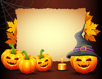 Halloween background with old paper Royalty Free Stock Photography