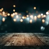 Halloween background with old wooden table Royalty Free Stock Image