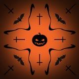 Halloween background. Orange and black illustration Stock Image