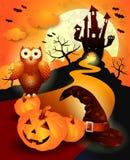 Halloween background in orange Royalty Free Stock Image