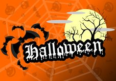 Halloween background in orange Stock Photography