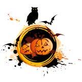 Halloween background  with owl Stock Photos