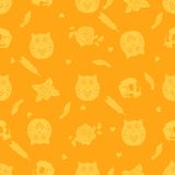 Halloween background with owl Royalty Free Stock Image