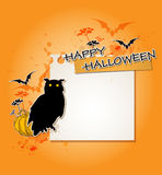 Halloween background with owl Royalty Free Stock Photography