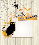 Halloween background with owl Royalty Free Stock Photo