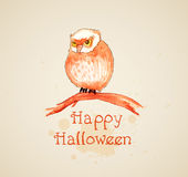 Halloween background with owl Stock Photo
