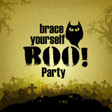 Halloween background. Halloween party design, this illustration may be useful as designer work Stock Photography