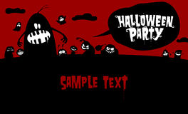 Halloween background for party invitation. Royalty Free Stock Photo