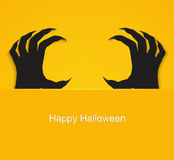 Halloween background, poster with zombie. Royalty Free Stock Photography