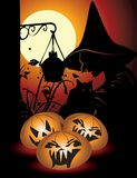 Halloween background with pumpkin Royalty Free Stock Images